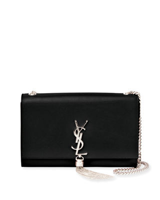 Image 1 of 3: Kate Monogram Smooth Leather Chain Tassel Medium Shoulder Bag
