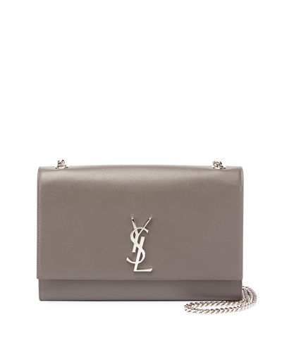 Kate Monogram YSL Medium Grain Leather Wallet on Chain