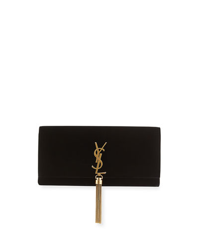 Kate Monogram YSL Velvet Clutch Bag