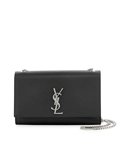 Saint Laurent Kate Medium YSL Grain de Poudre Wallet on Chain