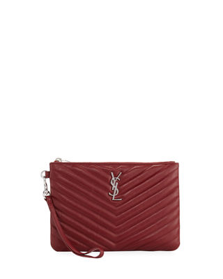 Image 1 of 3: Monogram Quilted Pouch Wristlet Wallet