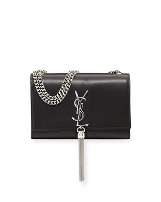 Kate Smooth Leather Chain Tassel Small Crossbody Bag
