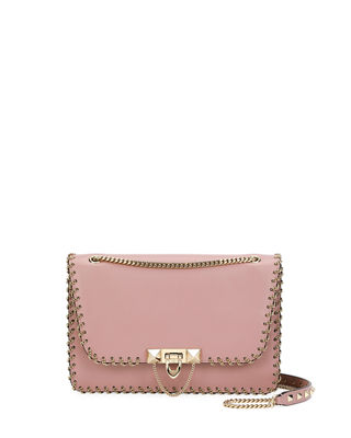 Valentino Garavani Demilune Small Vitello Groumette Shoulder Bag