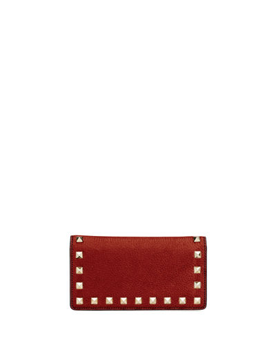 Rockstud Vitello Stampa Wallet