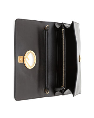 Image 2 of 4: F Seal Leather Wallet on a Chain