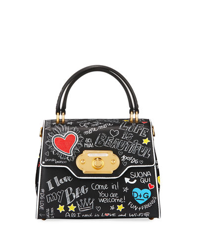 Dolce & Gabbana Welcome Amore Graffiti Medium Handbag