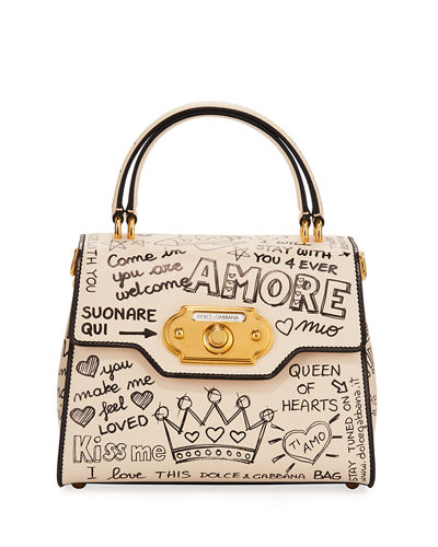Welcome Amore Graffiti Medium Handbag