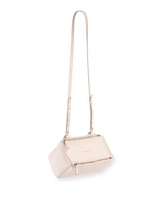 'Mini Pandora Box - Palma' Leather Shoulder Bag - Ivory in White