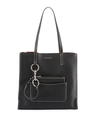 Image 1 of 4: The Bold Grind Pebbled Shopper Tote Bag