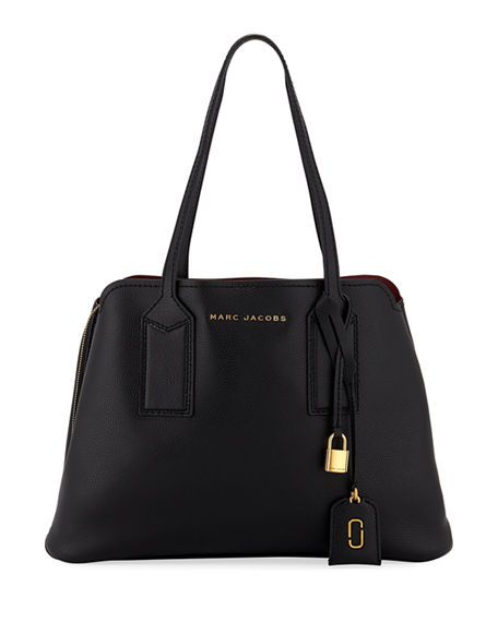 Image 1 of 4: The Marc Jacobs The Editor Large Pebbled Leather Tote Bag