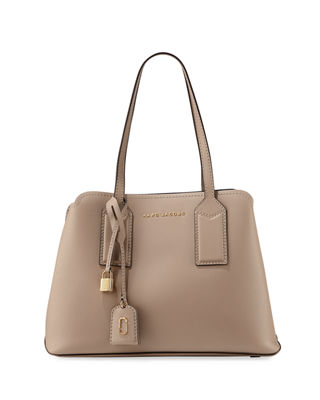 THE EDITOR LARGE PEBBLED LEATHER TOTE BAG from Neiman Marcus