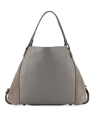 Edie 42 Mixed Leather Handbag