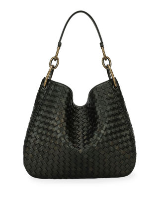 Bottega Veneta Loop Intrecciato Woven Hobo Bag