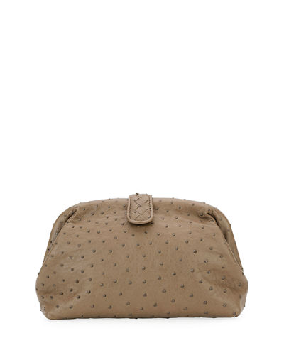Bottega Veneta The Lauren 1980 Ostrich Clutch Bag
