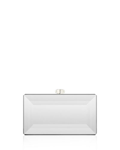 Reflection Coffered Box Clutch Bag