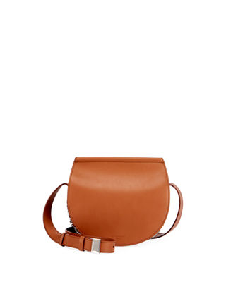 Image 1 of 3: Infinity Mini Smooth Leather Saddle Bag