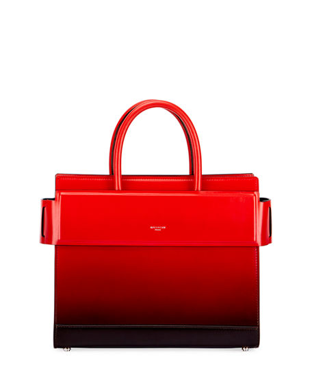 Givenchy Small Horizon Degrade Leather Tote - Black In Black Red ... 9cfdbab55c