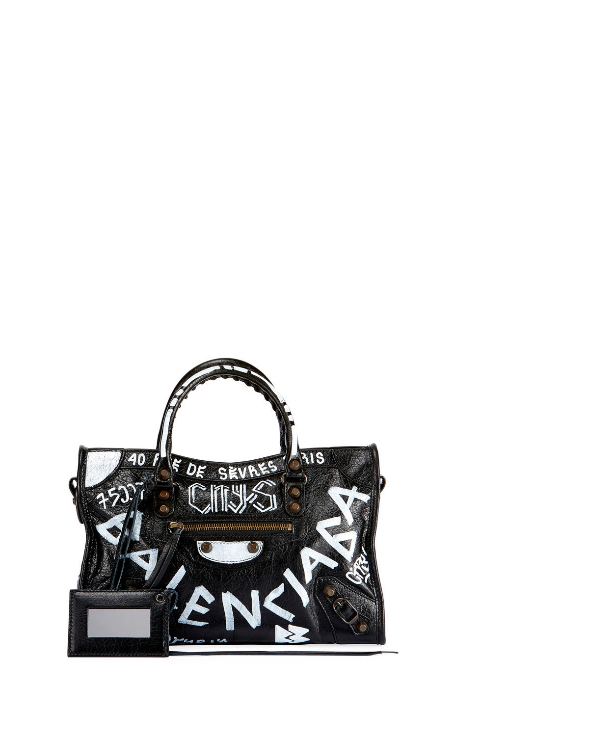 Balenciaga Classic City AJ Small Graffiti Satchel Bag  13a7bc8c1ea7f