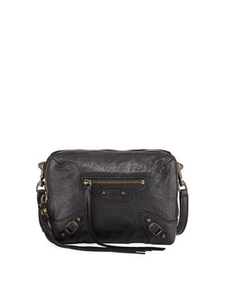 Image 1 of 2: Classic Reporter XS Lamb Leather Crossbody Bag