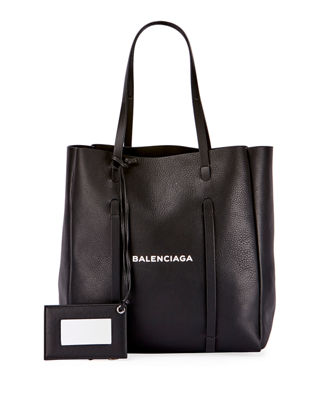 Image 1 of 3: Everyday XS Logo Leather Tote Bag