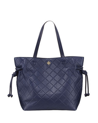 Tory Burch Georgia Slouchy Quilted Leather Tote Bag