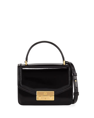 Tory Burch Juliette Mini Patent Top-Handle Bag