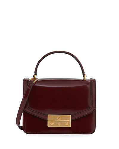 Juliette Mini Patent Top-Handle Bag