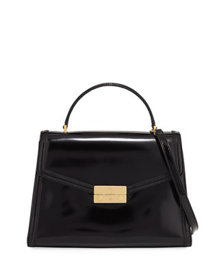 Juliette Patent Top Handle Satchel Bag