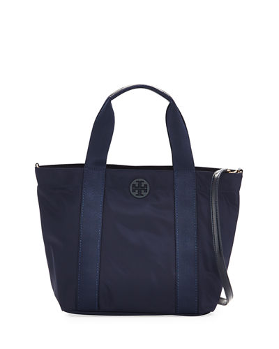 Quinn Small Zip-Top Nylon Tote Bag