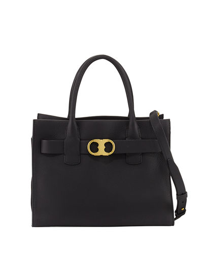 Gemini-Link Pebbled Leather Tote Bag
