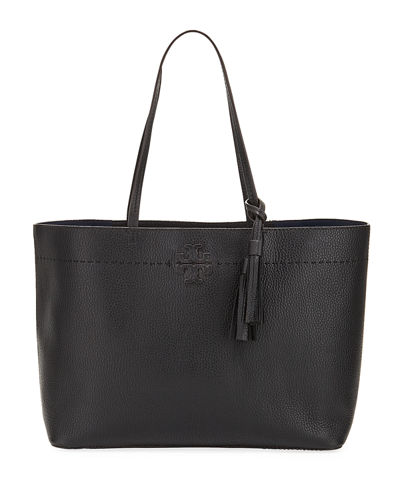Quick Look Tory Burch Mcgraw Pebbled Leather Tote Bag