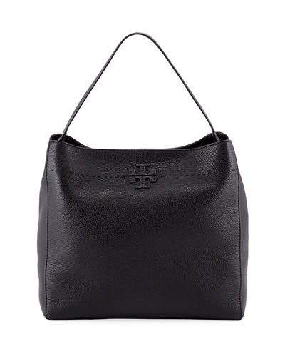 Tory Burch McGraw Pebbled Leather Hobo Bag