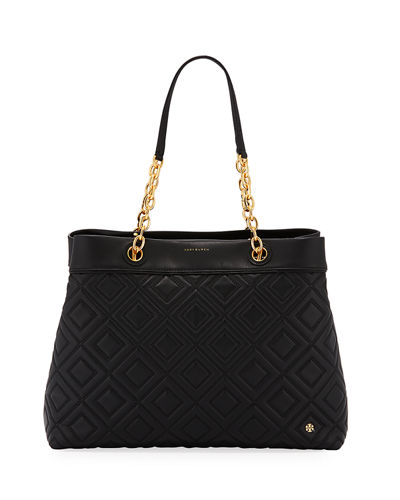 Fleming Quilted Leather Tote Bag