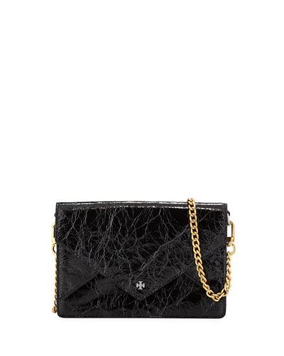 Metallic Envelope Mini Crossbody Bag