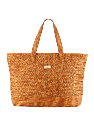Image 1 of 2: Carried Away Woven Tote Bag
