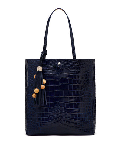 Elizabeth and James Eloise Magazine Crocodile-Embossed Tote Bag