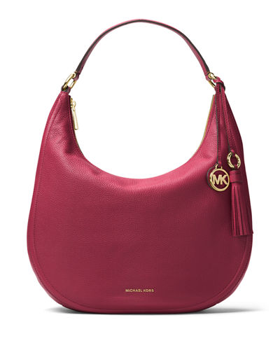 MICHAEL Michael Kors Lydia Large Leather Hobo Bag