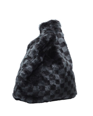 Michelle Faux-Fur Shopper Tote Bag