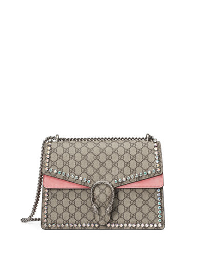 Dionysus GG Canvas Chain Shoulder Bag with Crystals