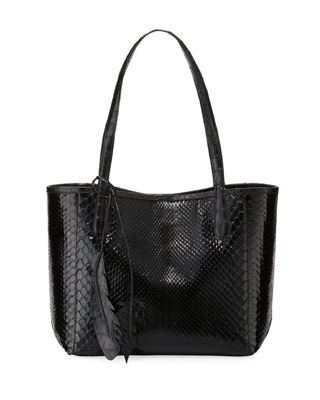 Nancy Gonzalez Erica Small New Python Leaf Tote
