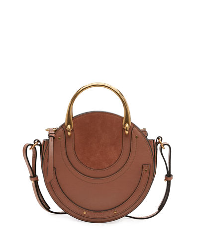 Pixie Small Round Double-Handle Tote Bag