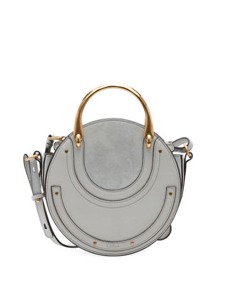 Chloe Pixie Small Round Double-Handle Tote Bag