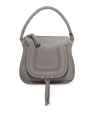 Image 1 of 3: Marcie Medium Leather Hobo Bag