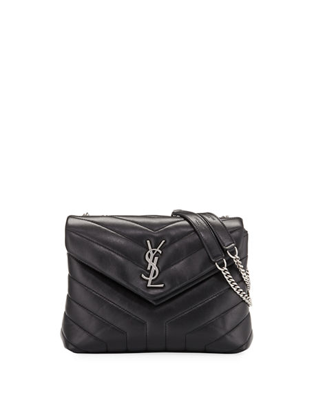 Saint Laurent Loulou Small Matelasse Calfskin Flap Bag