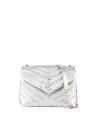 Loulou Monogram Small Metallic Leather Shoulder Bag