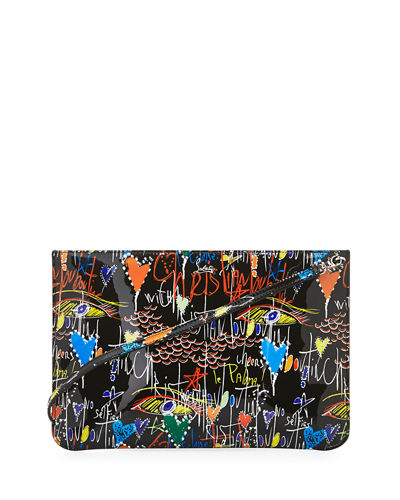 Loubiclutch Patent Loubitagmetal Clutch Bag