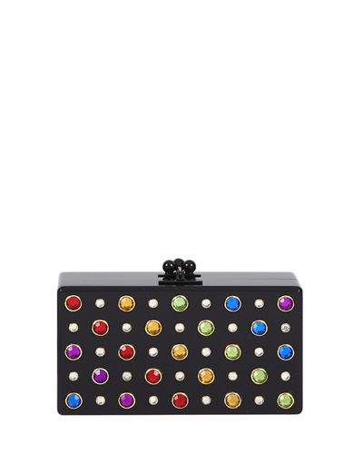 Jean Studded Acrylic Clutch Bag