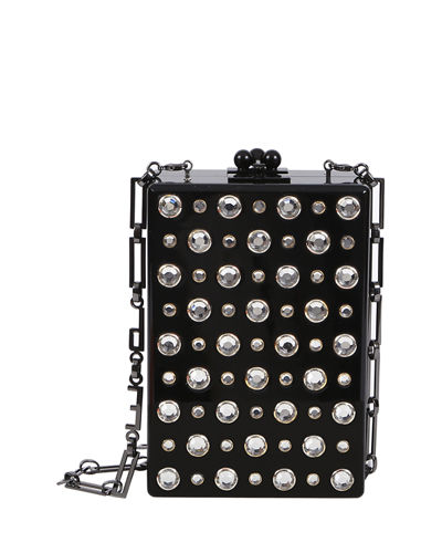 Edie Parker Carol Metallic Stud Clutch Bag