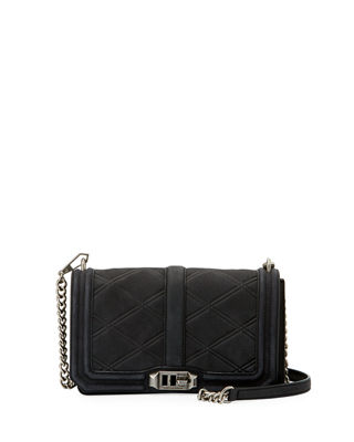 Image 1 of 3: Love Quilted Nubuck Crossbody Bag