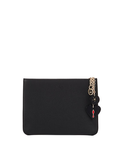 Loubicute Calf Empire Charms Clutch Bag